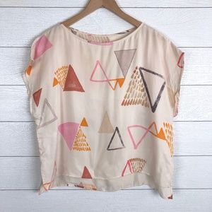 LOU & GREY Boxy Top Geometric Print Blouse